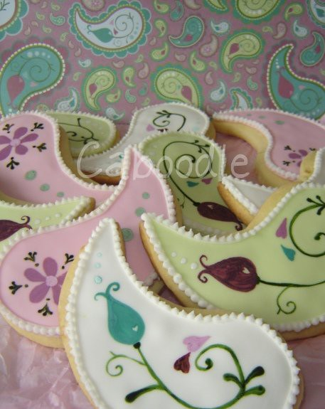 paisley inspired cookies
