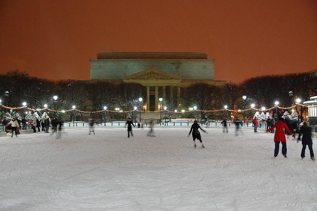 Ice Skating on the Mall
