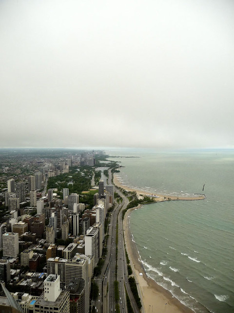 Uptown Chicago on a cloudy day
