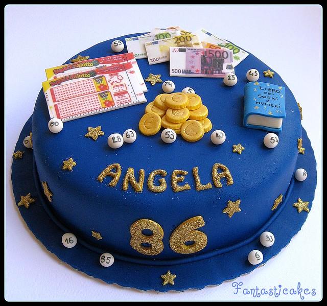 Torta lotto / Loto, bingo cake