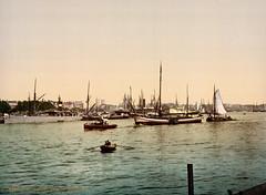 Meuse River (Maas), Rotterdam, South Holland, the Netherlands, ca. 1895