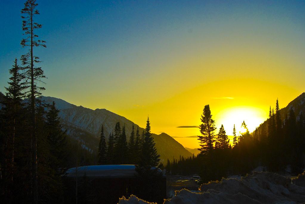 sunset at Snowbird