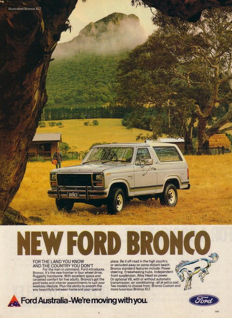 New Ford Bronco >> 1982 Ford Bronco 4WD Ad | Flickr - Photo Sharing!