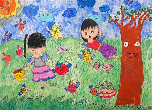 眼睛世界儿童画_儿童网