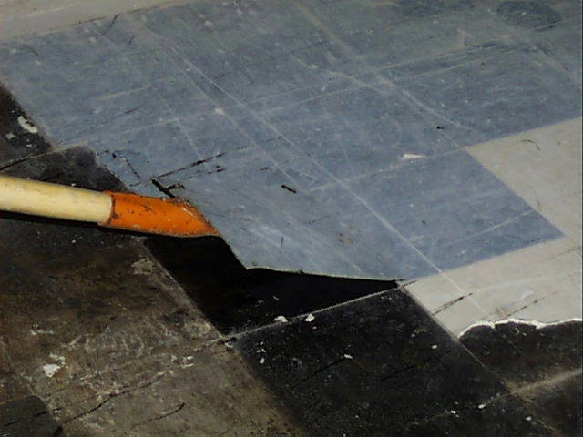 Asbestos Floor Tile Removal Via High Heat Flickr Photo Sharing