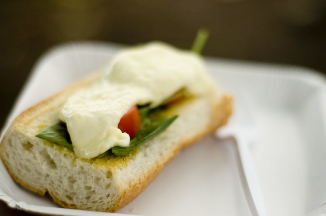 Bread, Butter, Tomato, Basil, and White Cheese! Yum! | Flickr - Photo ...