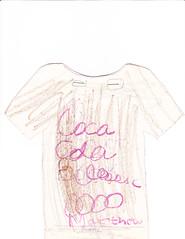 clothing, sketch, pattern, sleeve, font, blouse, drawing, shirt, illustration, pink, t-shirt,