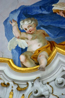 Billede af Wieskirche. church angel painting geotagged bayern bavaria photo highresolution flickr foto stuck image oberbayern picture free kirche unesco cc upper mai putte dome baptist jpg engel baroque bild jpeg geo johann fresco 2009 barock stucco frühling stockphoto fresko weltkulturerbe kuppel wies deckengemälde zimmermann heiland rokoko wieskirche wallfahrtsort wallfahrtskirche steingaden voralpenland pfaffenwinkel diewies deckenfresko kuppelfresko gegeiselter barockmalerei barockengekl barockputte domenikus