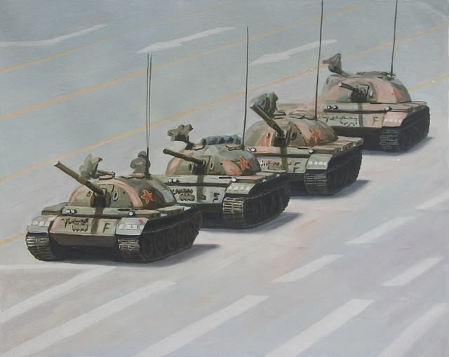 Tiananmen Square: composition without lights