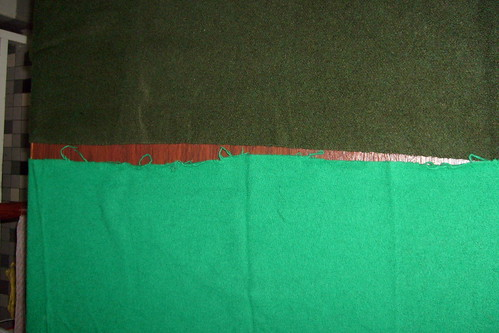 Wool for the Outer layer that will be slashed