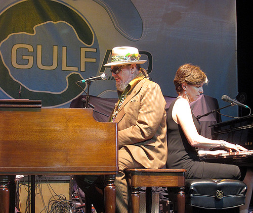 Dr. John and Marcia Ball with Voice of the Wetlands at Gulf Aid, May 2010.