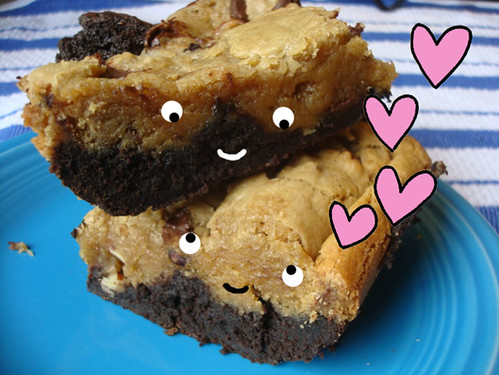 Blondie-Topped Brownies