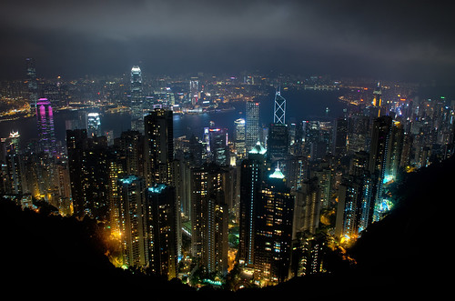 Hong Kong Skyline From Victoria Peak