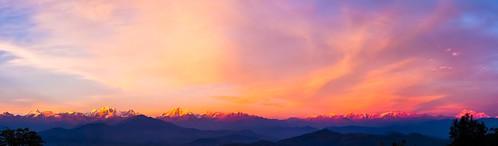 日落 尼泊尔 杜利凯尔