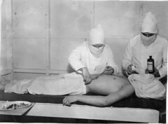 Surgery in a CCC camp infirmary