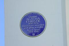 Photo of Agatha Christie blue plaque