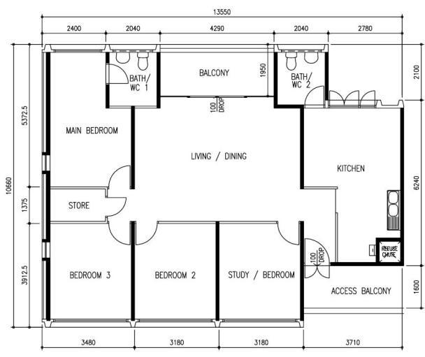 Hdb floor plan singapore real estate agent harry liu 4 room floor plan