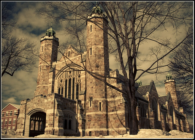 bates college chapel 7 in the bates college series modeled after the    Bates College Campus Winter