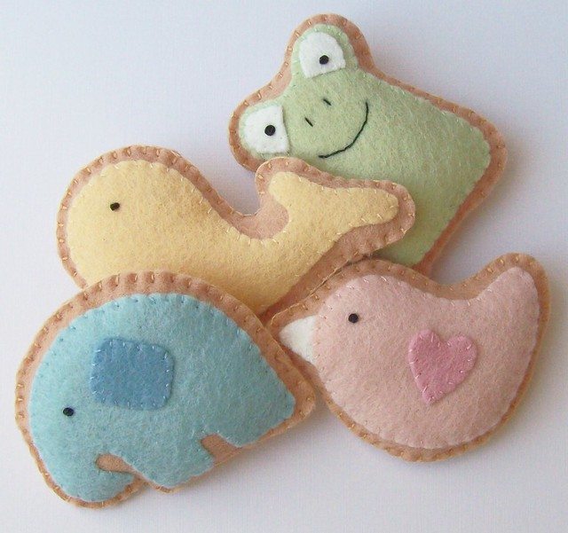 Felt Animal Cracker Cookies | Flickr - Photo Sharing!