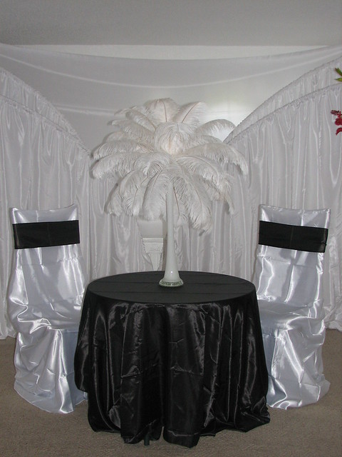 Using table and chair covers for a wedding reception event heightens the