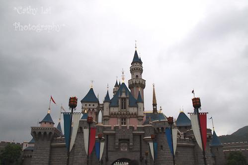 手绘迪士尼城堡简笔画