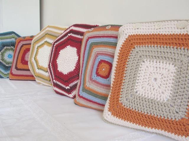 Granny cushions by © emma lamb