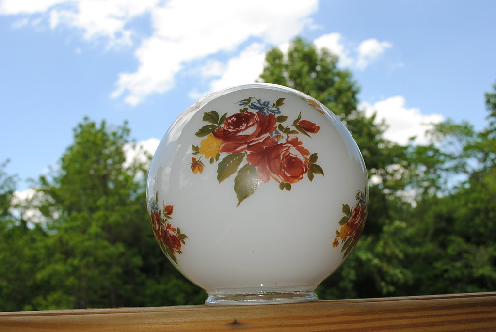 Vintage lamp globe