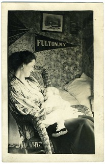 Real Photo Postcard: Woman Nursing Her Baby