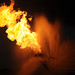 Small photo of Gas From Wellhead Being Burned