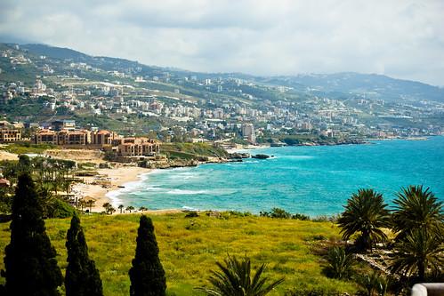 sea lebanon beach mediterranean view scenic byblos phoenician jbeil kartpostal jubayl flickraward