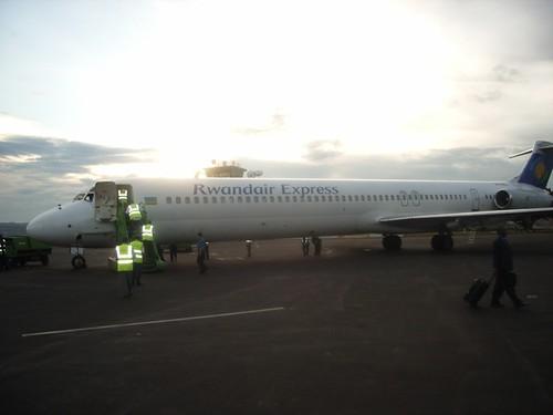 Rwandair Express at Kigali Airport