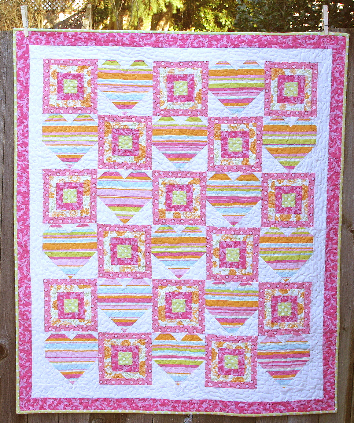 Sweet Hearts Baby Quilt