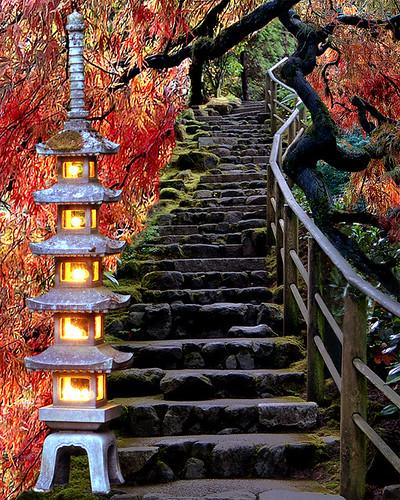 Collage of Portland Japanese Garden