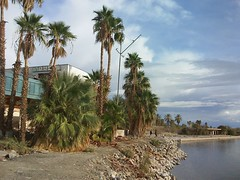 North Shore Yacht Club and marina.  Salton Sea.