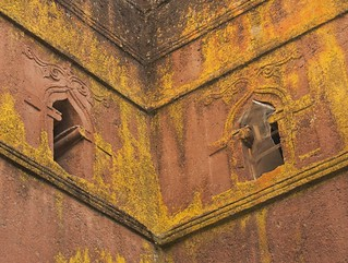 The Windows of Bet Giorgis, Lalibela, Ethiopia
