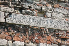 Ornament On The Old Theodosian Walls, Istanbul