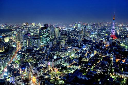 [フリー画像素材] 建築物・町並み, 都市・街, 夜景, 風景 - 日本, 東京タワー, 日本 - 東京 ID:201204022000