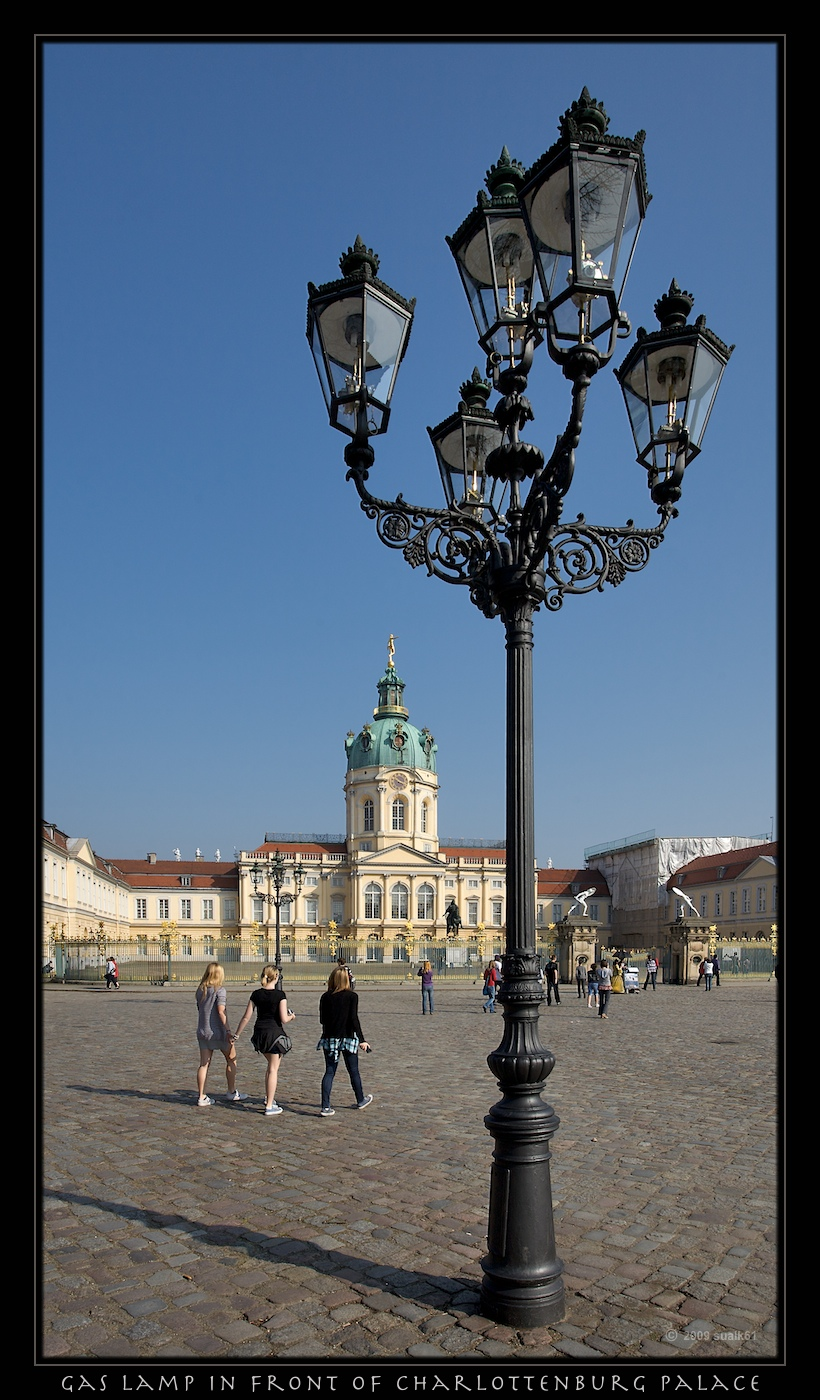 Charlottenburg palace with old gas lamps the old palace for Lampen charlottenburg