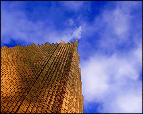 blue sky white toronto ontario canada building tower glass up clouds skyscraper reflections gold fb sony royal bank financialdistrict explore alpha dslr upward mostviewed royalbank rbc 5x4 a300 view500 explore52 fave5 fave10 fave50 sonydslra300 fave25 nowandhere davidfarrant