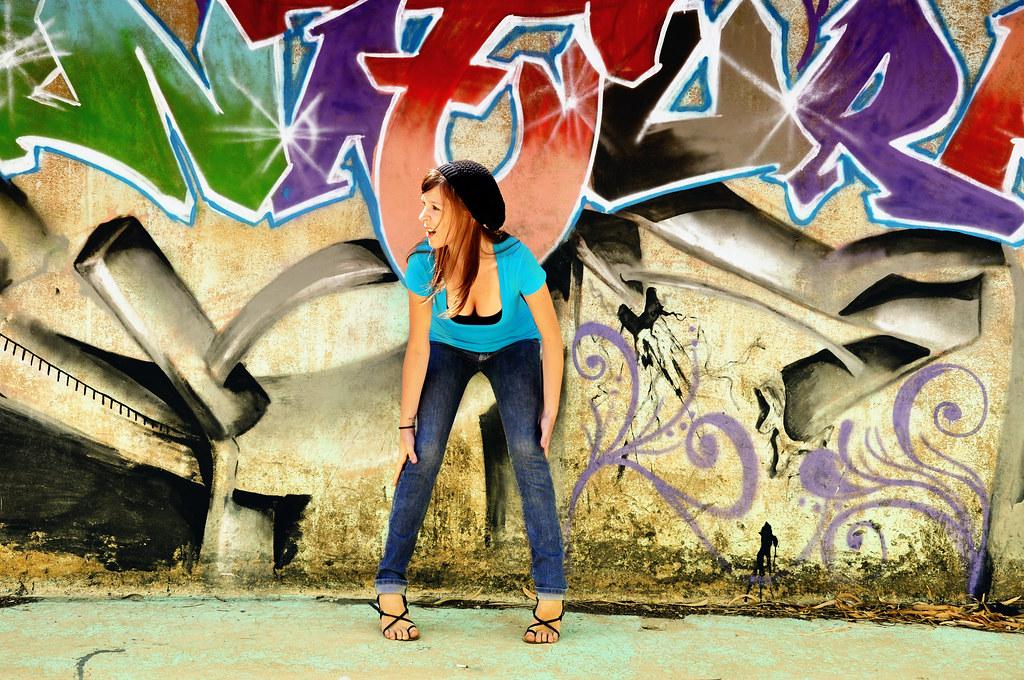 On Black: graffiti girl by Scarleth Marie [Large]