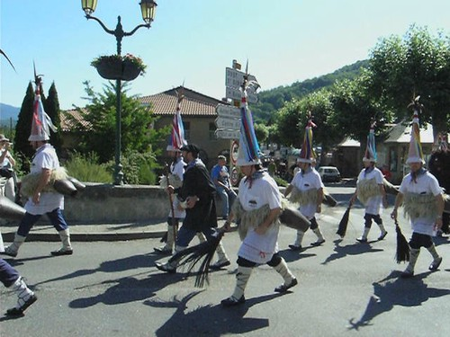 Bergers basques a la transhumance en Haut-Salat (Ariege-Pyrenees)