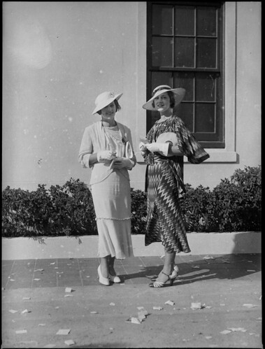 Two women racegoers at Warwick Farm racecourse