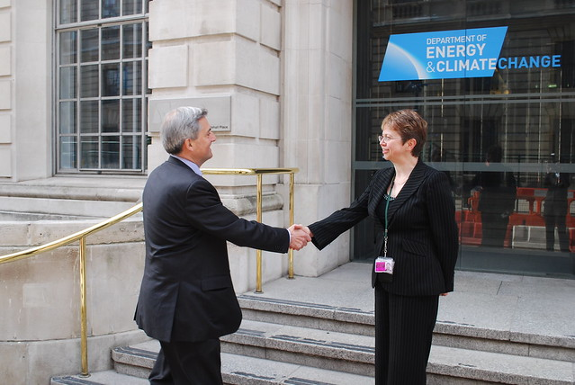 Chris Huhne and Moira Wallace