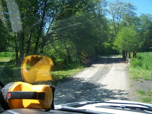 road bridge summer green grass oregon work cable windshield gravel clatskanie columbiacounty