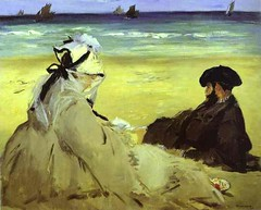 Manet, Edouard (1832-1883) - 1873 At the Beach (Musee d'Orsay)