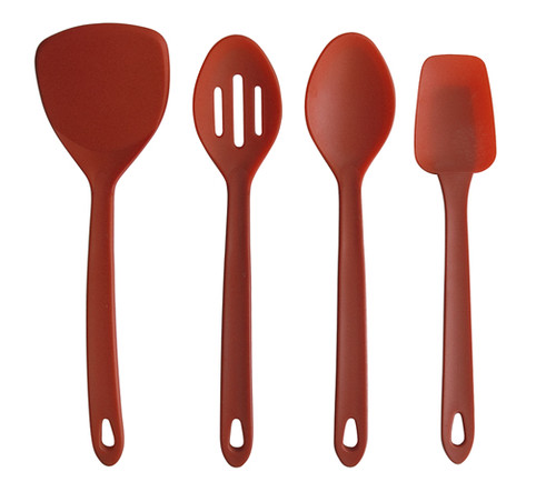 Silicone Kitchen Tools By Silvermark Red Four Piece