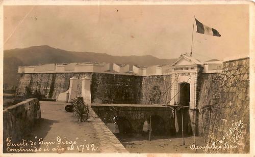El fuerte de San Diego, resguardaba al puerto de los ataques piratas.