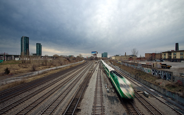green, train, blur, motion