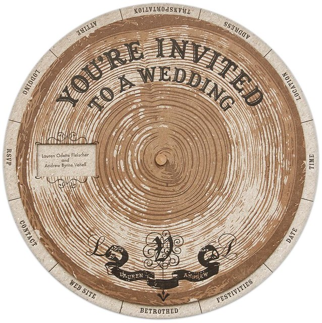 DIY wedding invitation wheel