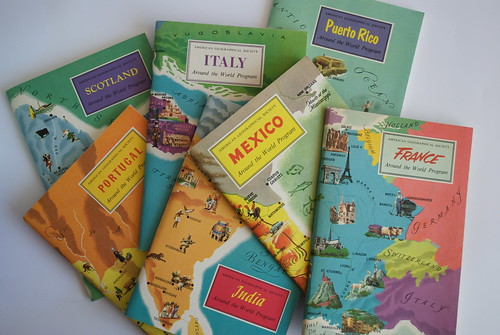 Around the World 1957 Travel Guides